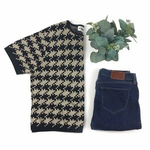 Vintage | Metallic Houndstooth Knit Top size M/L